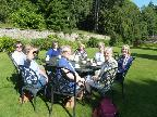 French Group members enjoy the sunshine