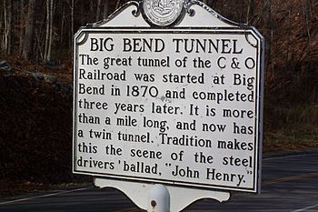 A plaque at The Big Bend Tunnel