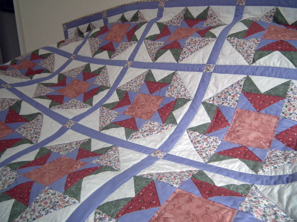 Quilt made by Joan Evans