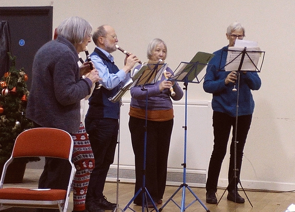 Recorder Group at Christmas Social