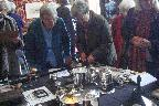 Inspecting the Kendal silverware