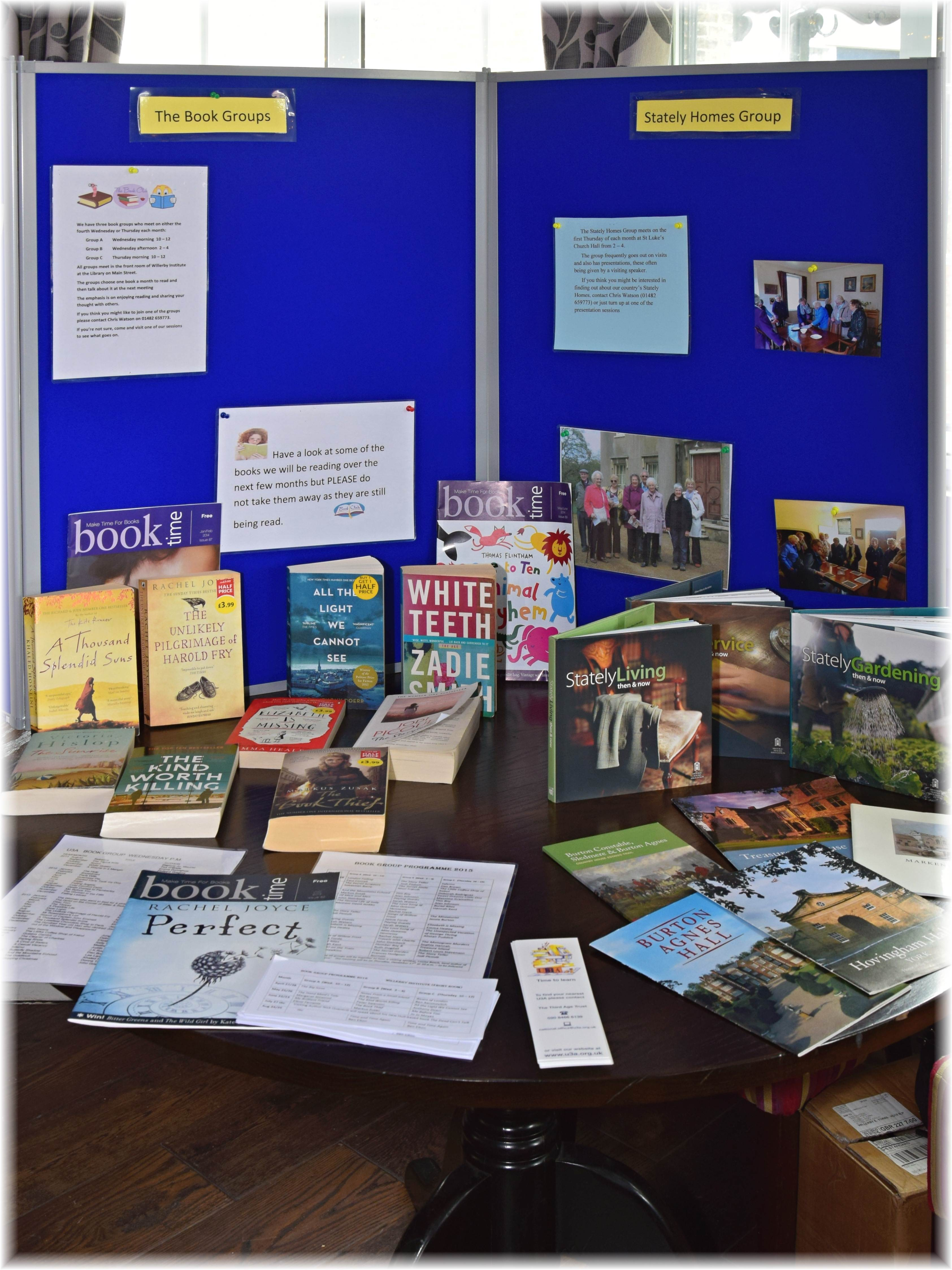 Open Day April 2016 Book Display