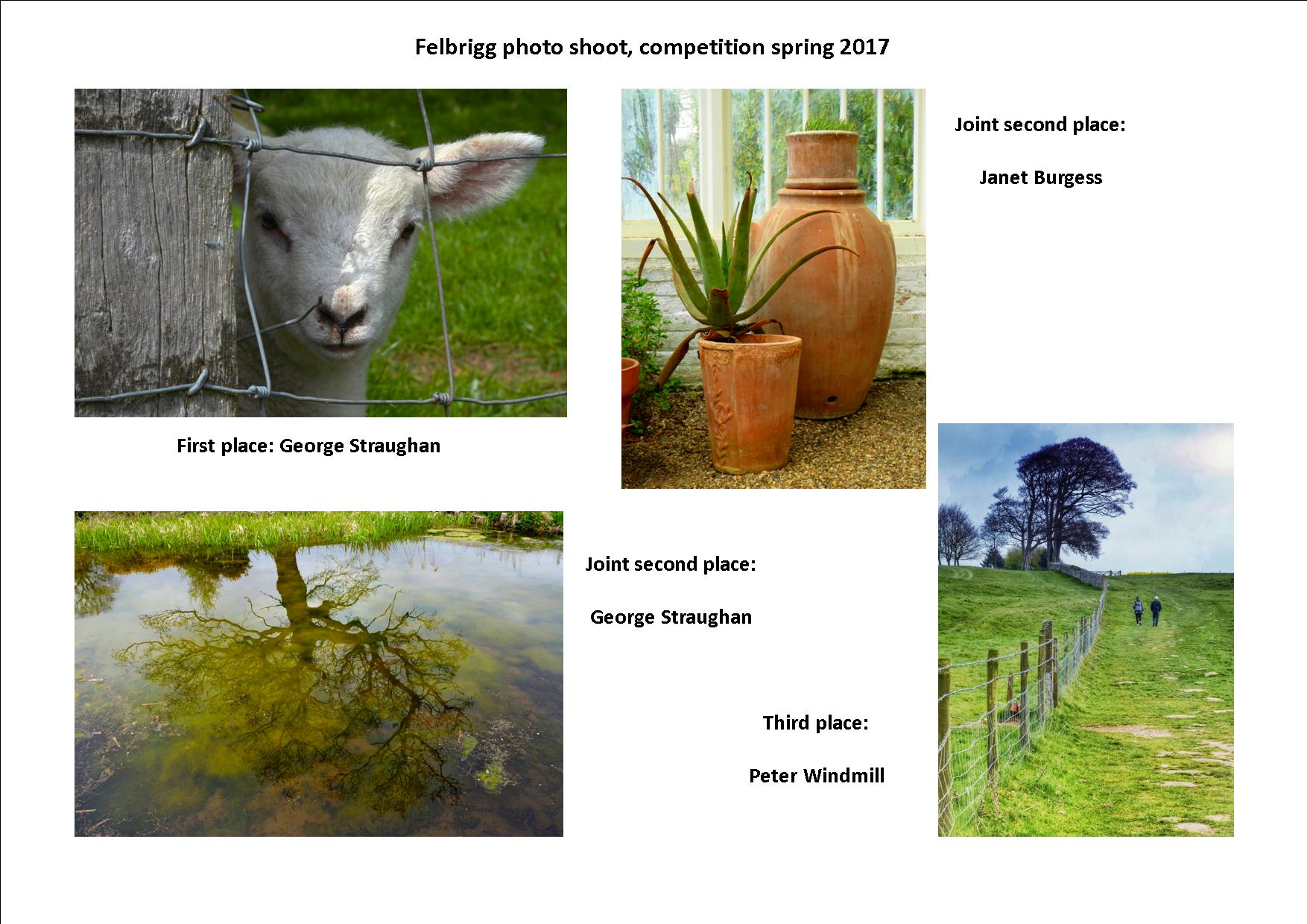 Felbrigg photo shoot, comp winners