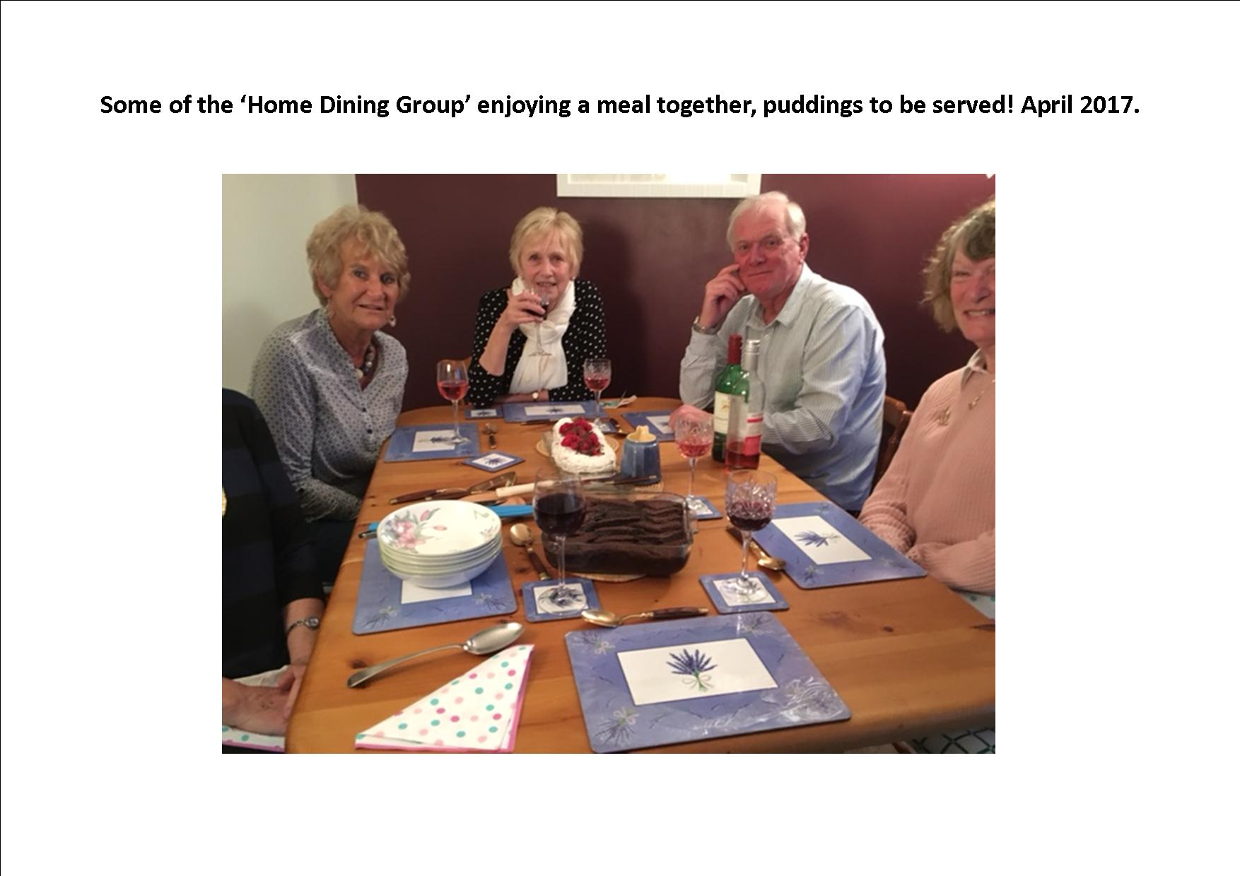 Home dining group.