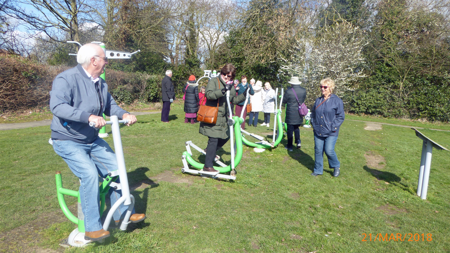 Strollers in the park