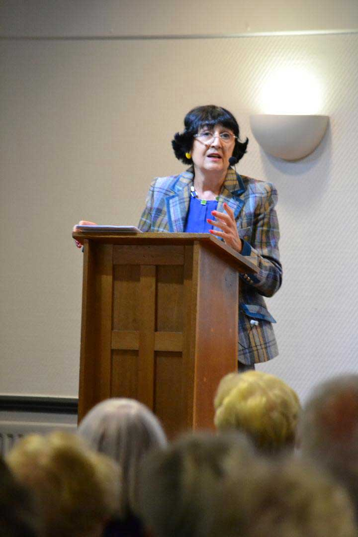 Anita Manning at the Monthly Meeting