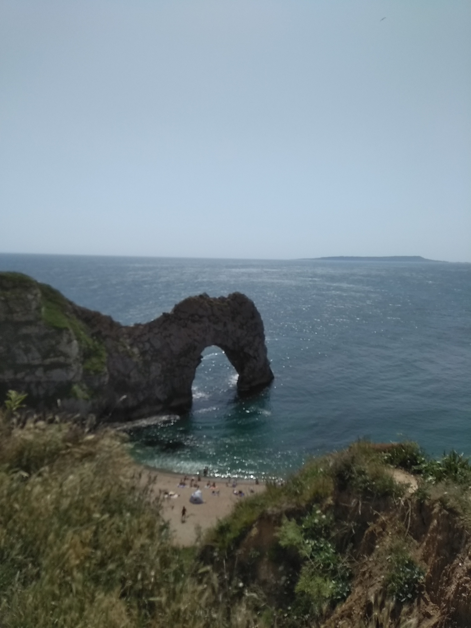 """Hot July Trip"" to Durdle Door"