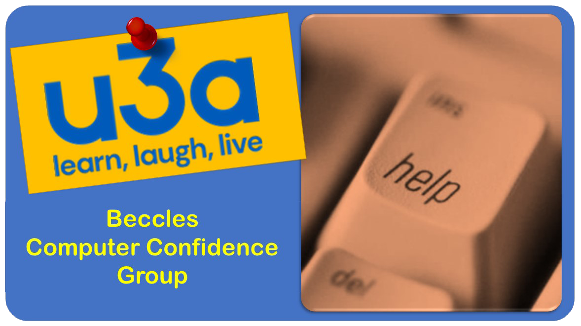 u3a Beccles Computer Confidence Group