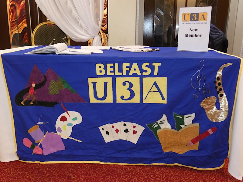 Cloth made by Belfast U3A Craft Group
