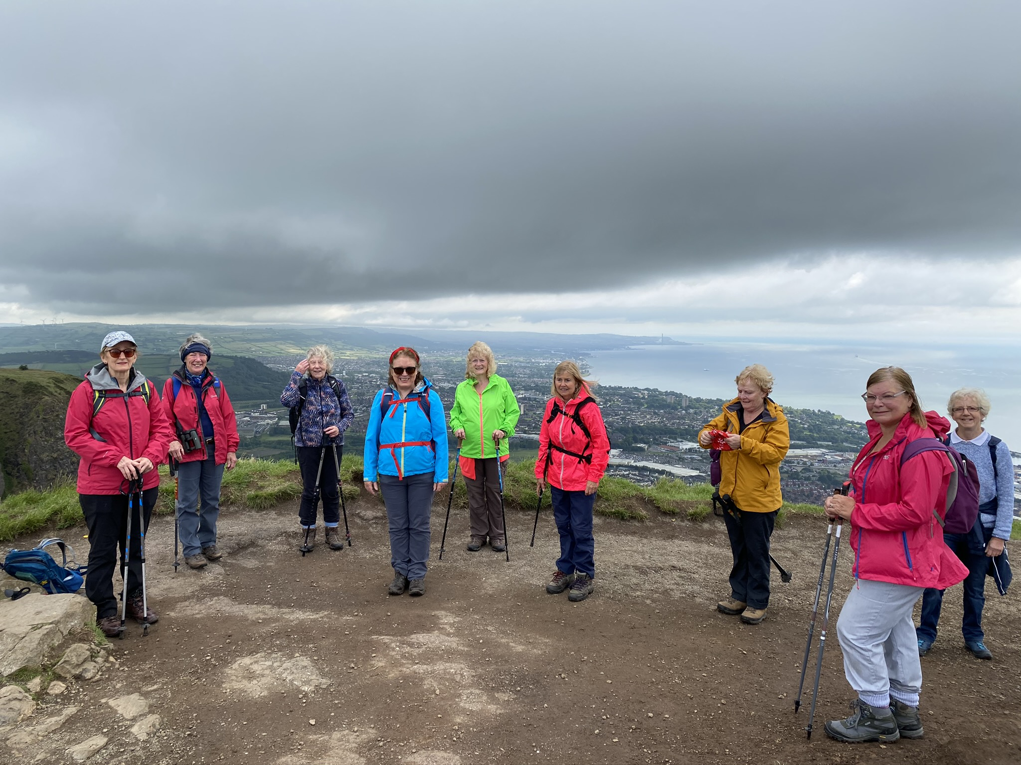 Half of NTM walkers at Cavehill July 20
