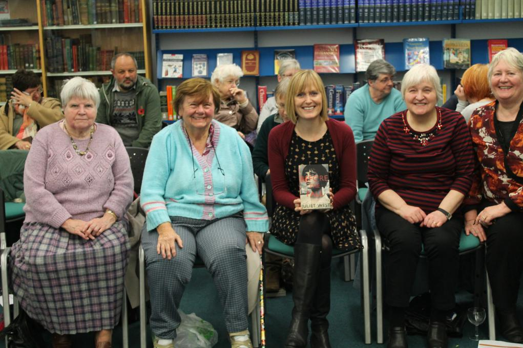 The group with Juliet West, Author