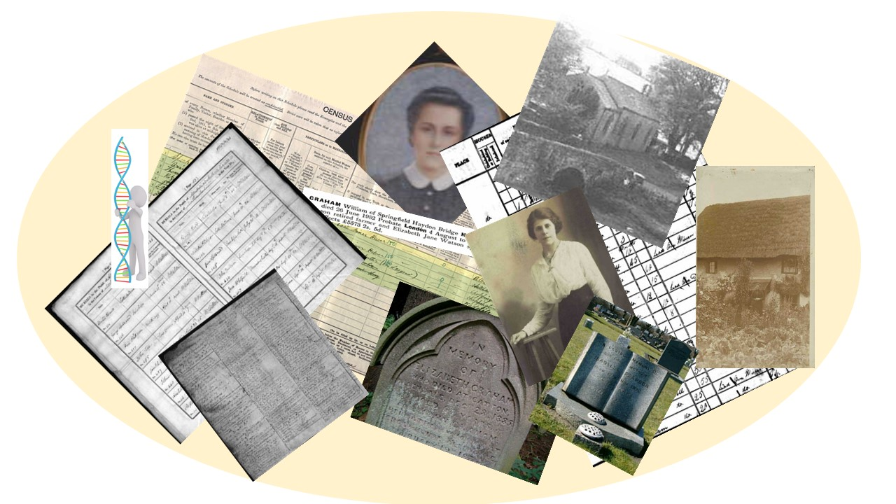 Family tree research documents