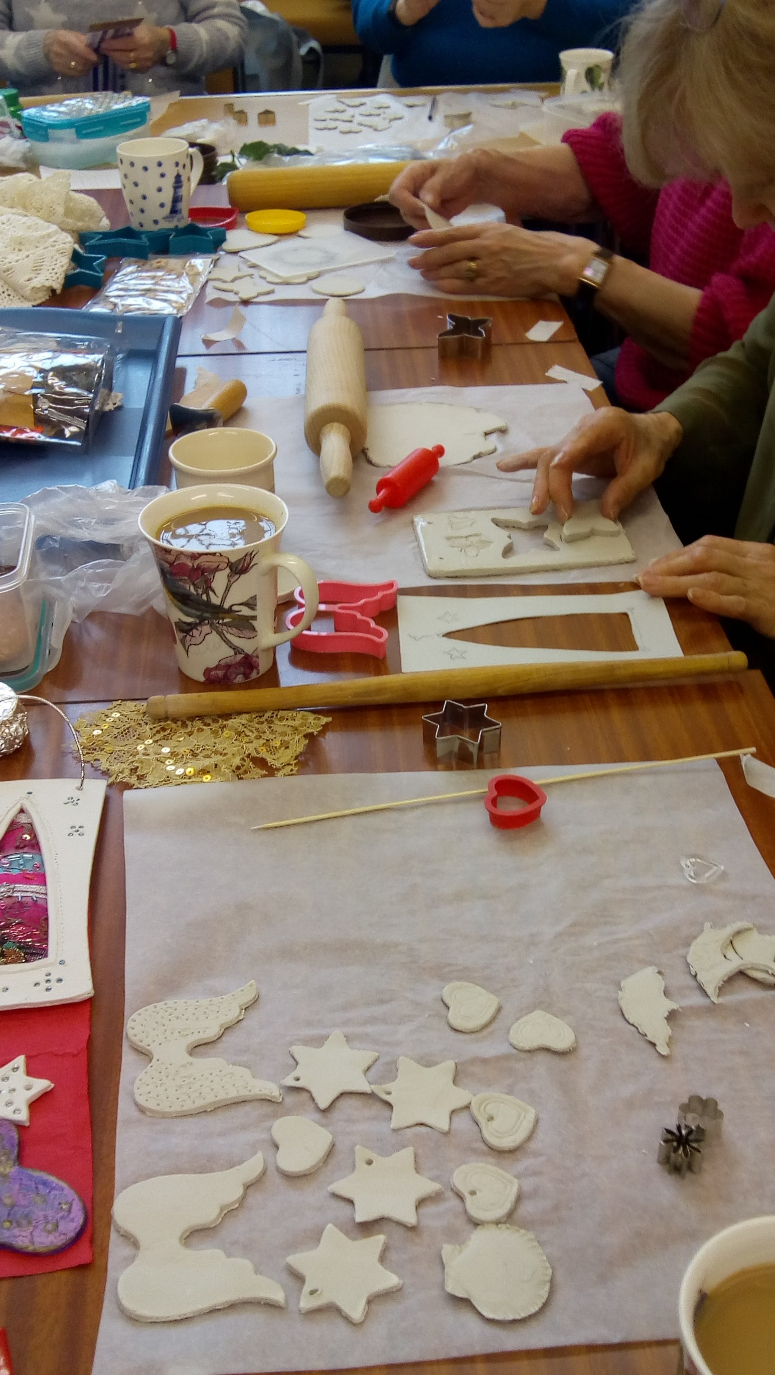 Stitch and Craft Group clay creations