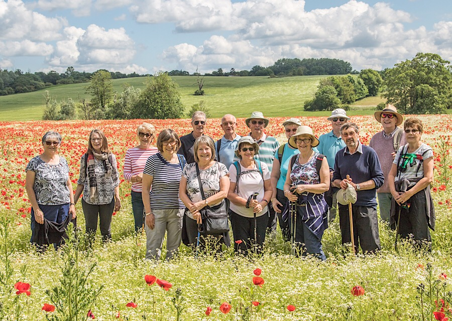 Our summer photo from Walking Group I