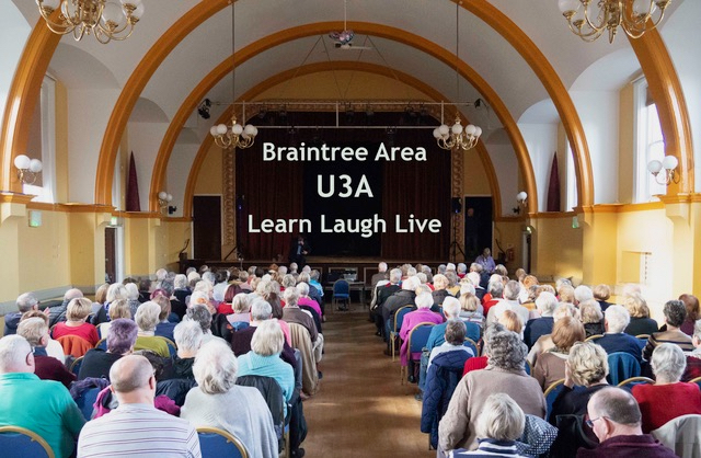 Welcome to Braintree Area U3A-Jan2020