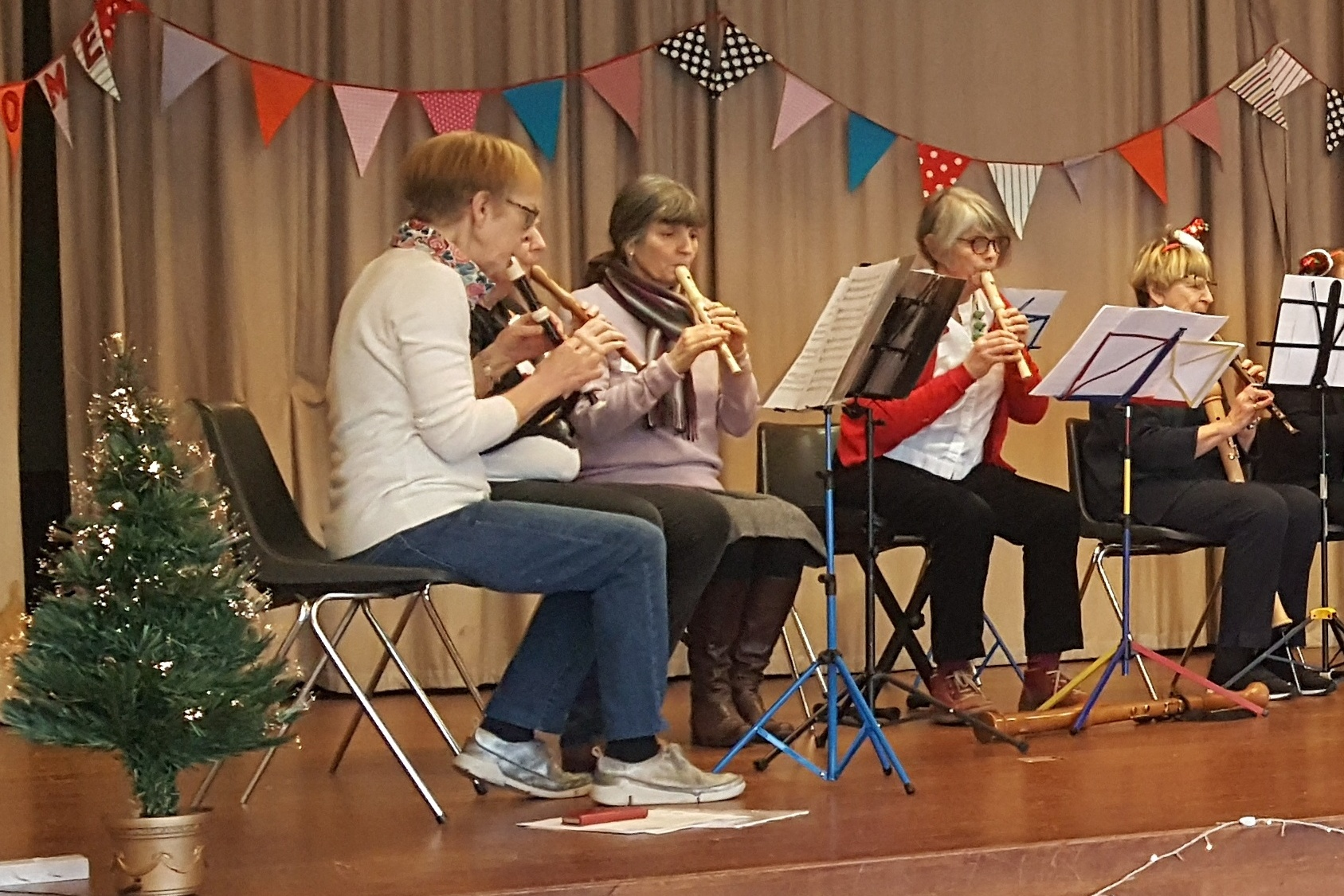 Recorder group at Xmas Social