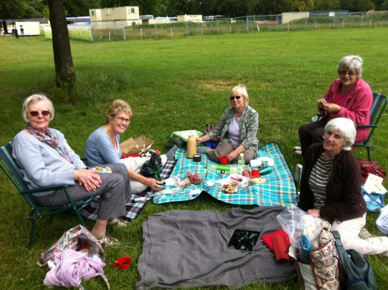 Textiles picnic on The Downs, June 2013