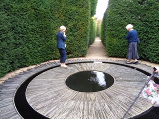 Gardens group visit to Througham Court