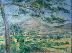 Cezanne, Mt Ste Victoire with Large Pine