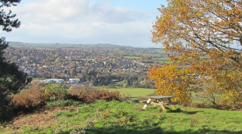 Bromyard from the Downs