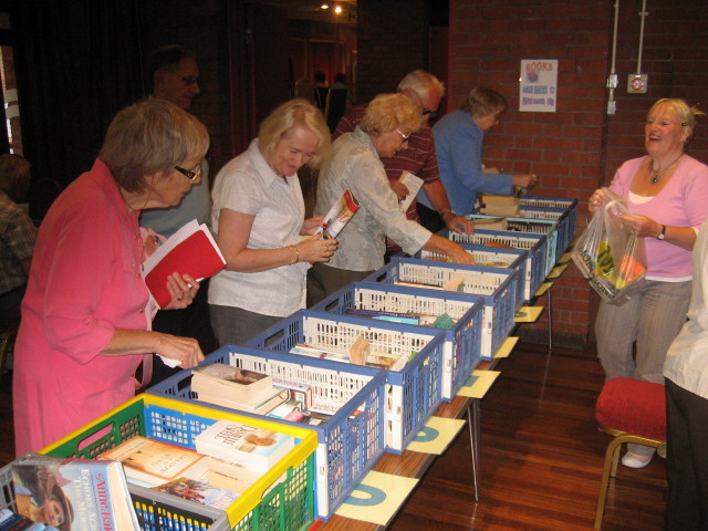 The Bookstall at our monthly meeting