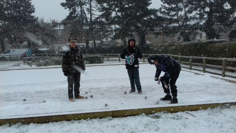 French Boules in the snow - March 2018