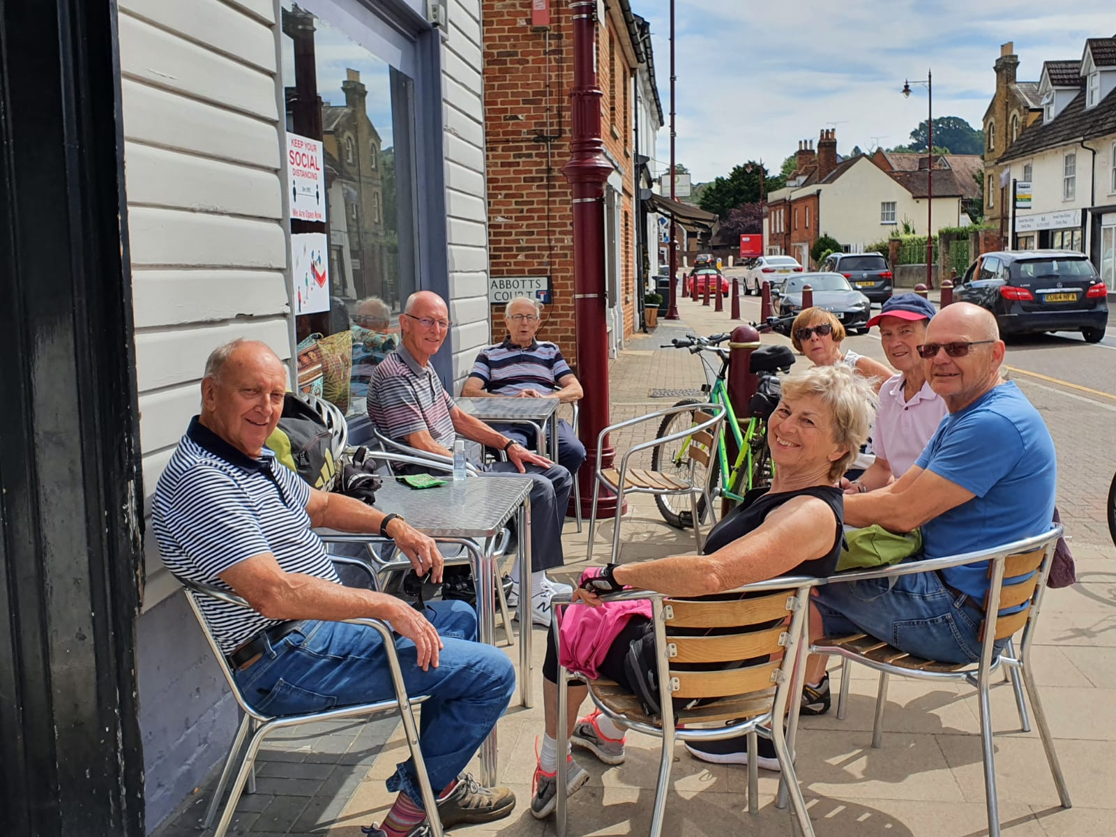 A well earned rest for our Cyclists