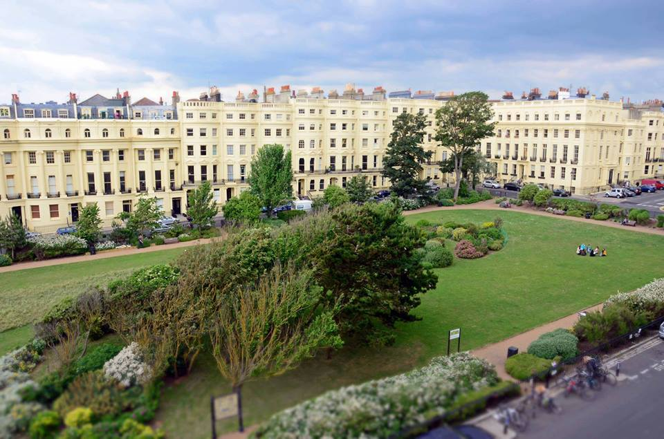 Brunswick Square in Hove, East Sussex