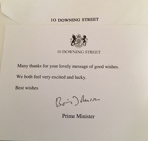 Thank you from the Prime Minister