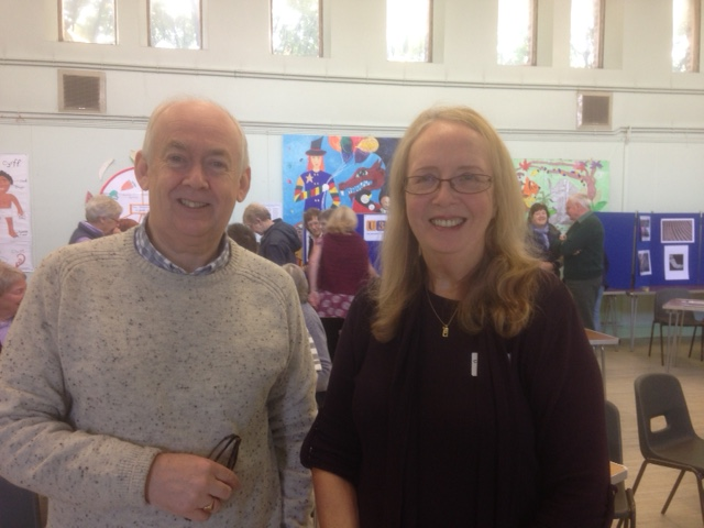 Our Chairman, Judy, with Wayne David MP