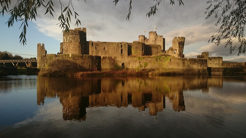 Evening Sun on Caerphilly Castle