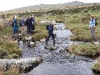 Crossing the stream at Merrivale
