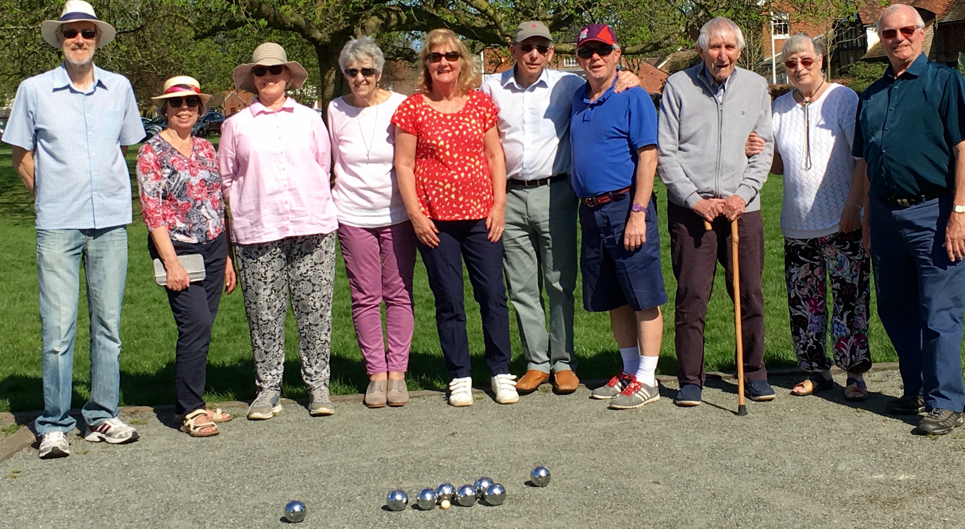 Boules in the sun