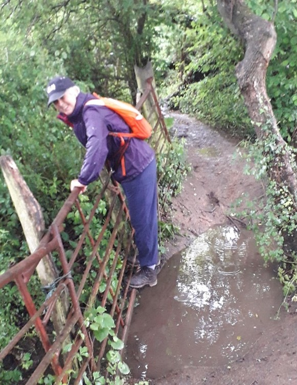 Here I am demonstrating the route!!
