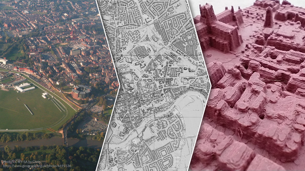 3D solid map of Chester