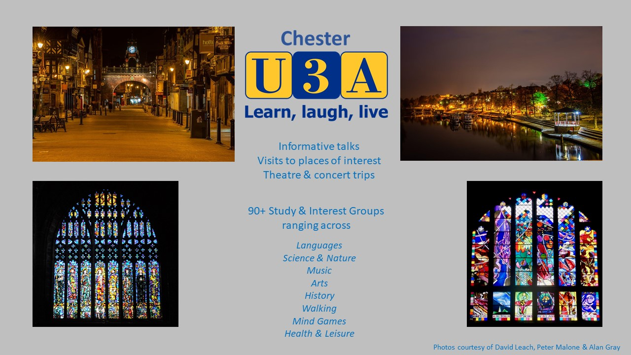 Chester at night & Cathedral windows