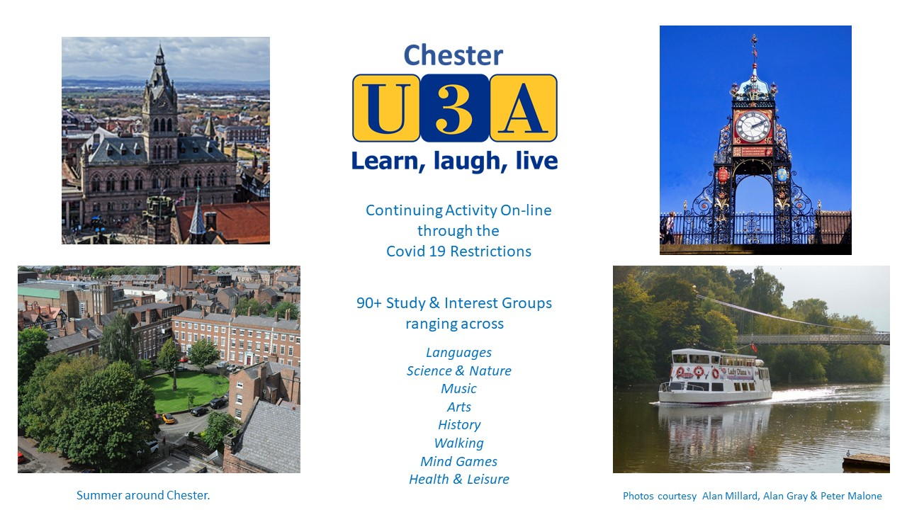Welcome to Chester U3A