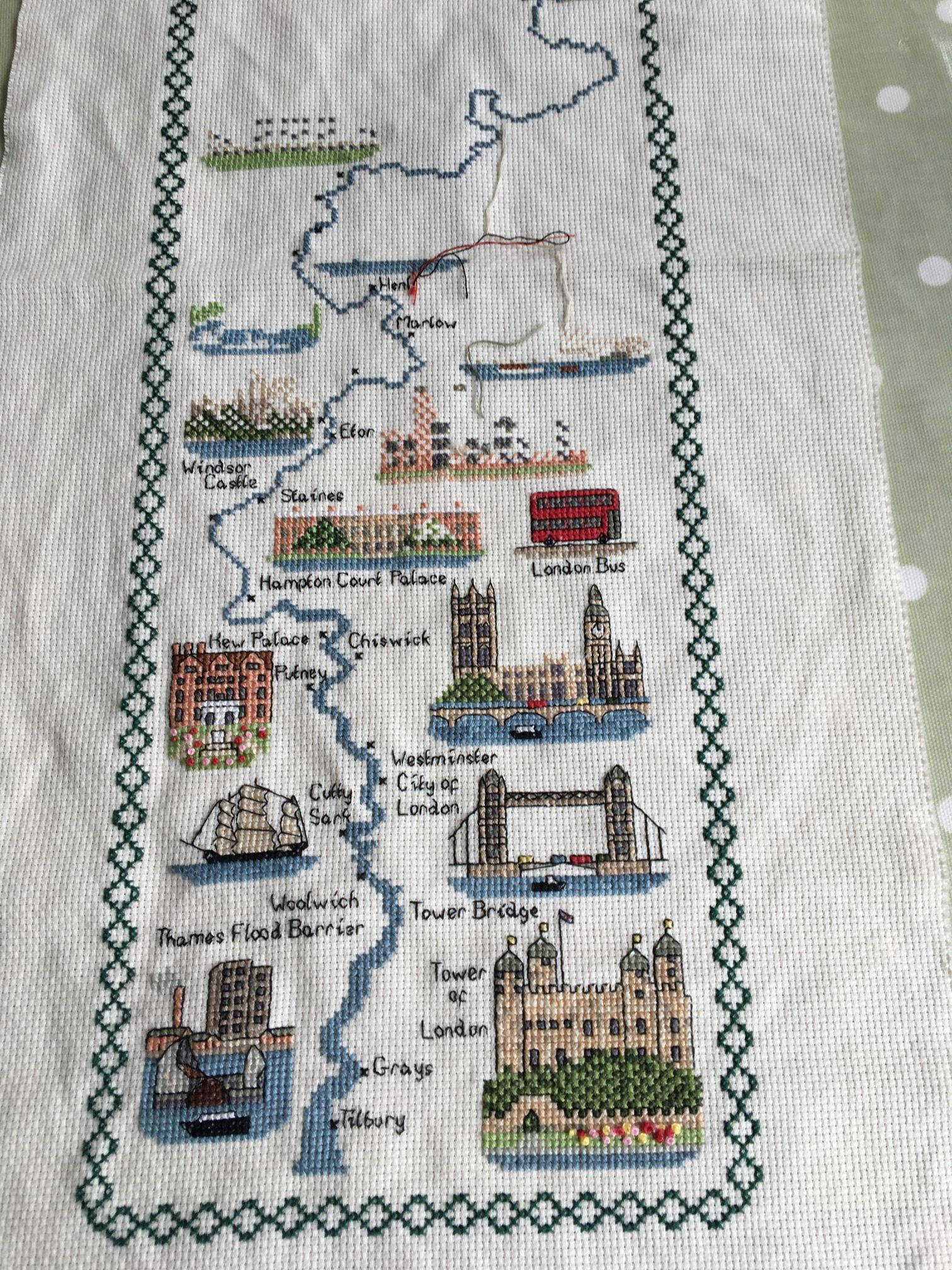 Thames Walk embroidery