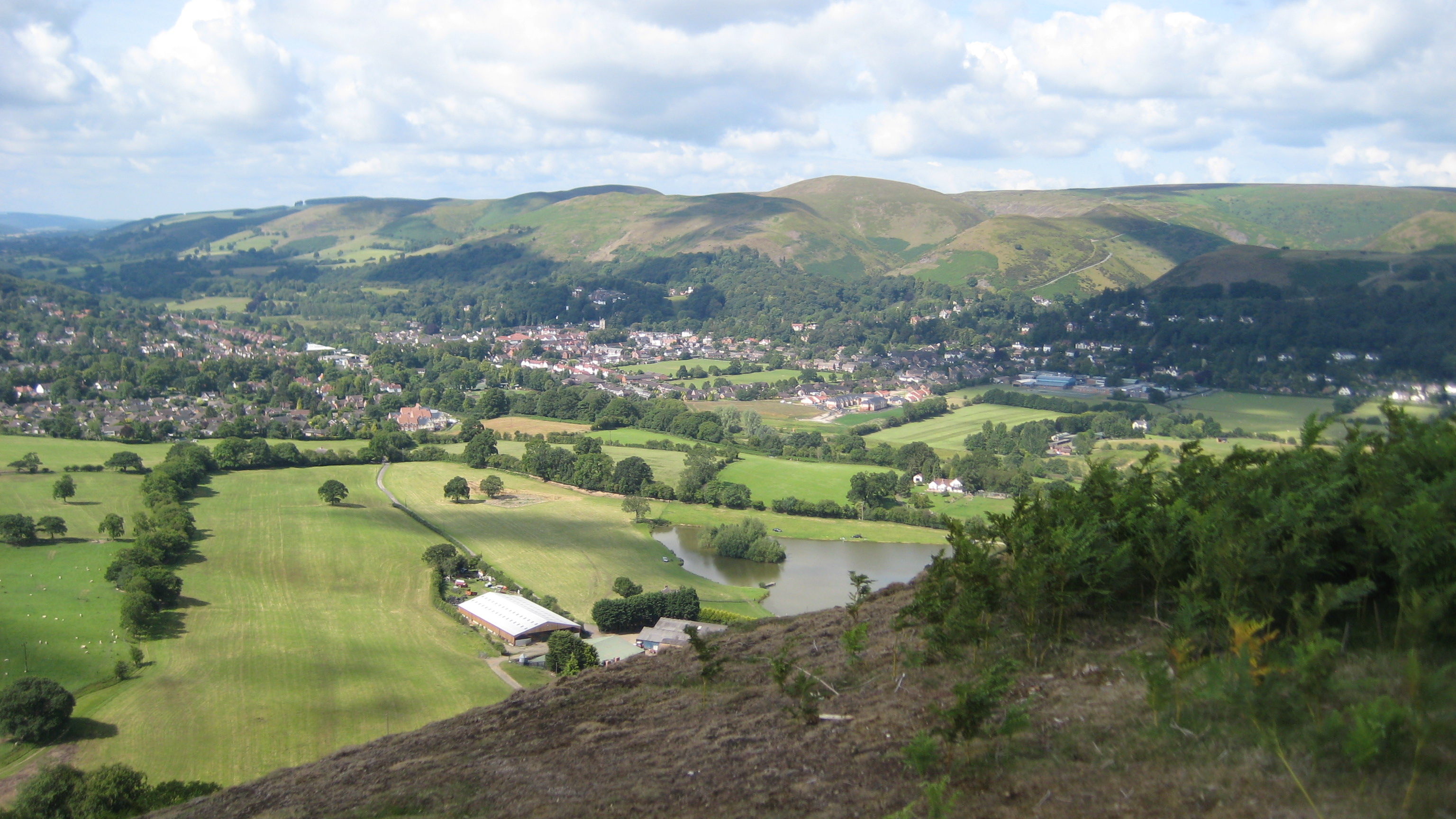 Church Stretton from Caer Caradoc