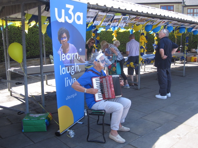 Our U3A Day stand in Clitheroe Market