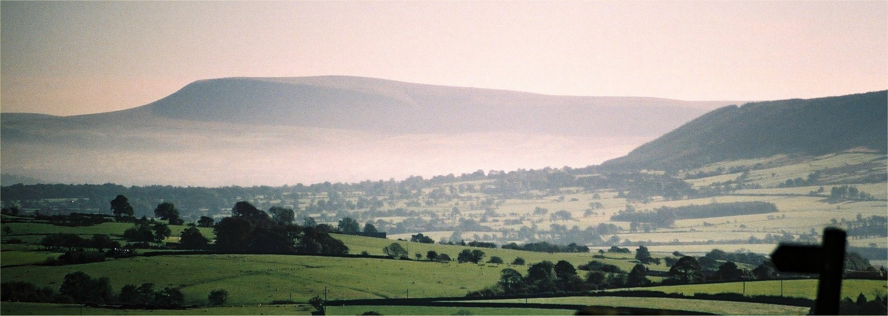 Pendle Hill above the Ribble Valley