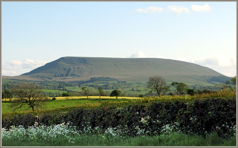 Pendle Hill on a lovely spring evening
