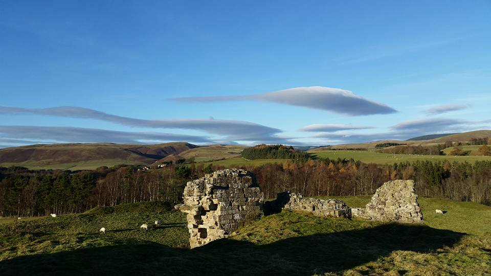 Harbottle Castle & upper Coquetdale