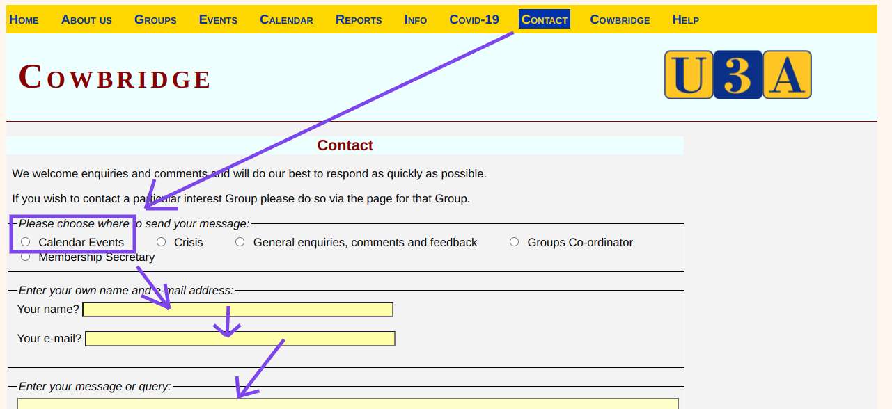How to publish Group online info