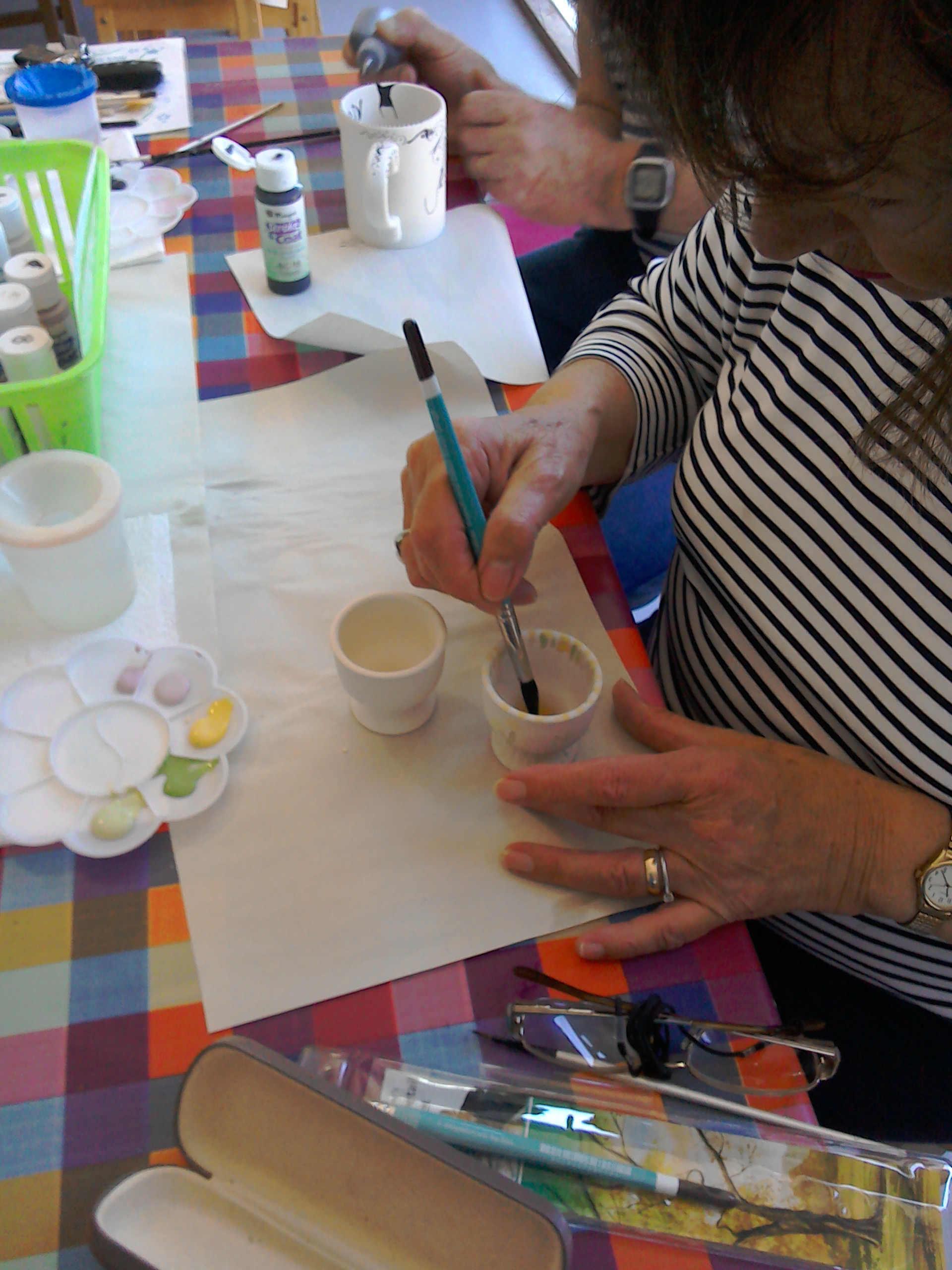 Little decorated egg cups