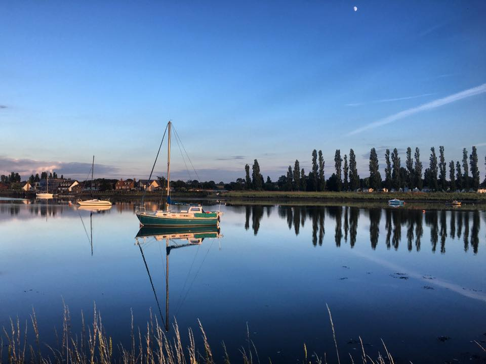 July Summer Evening on the River Crouch