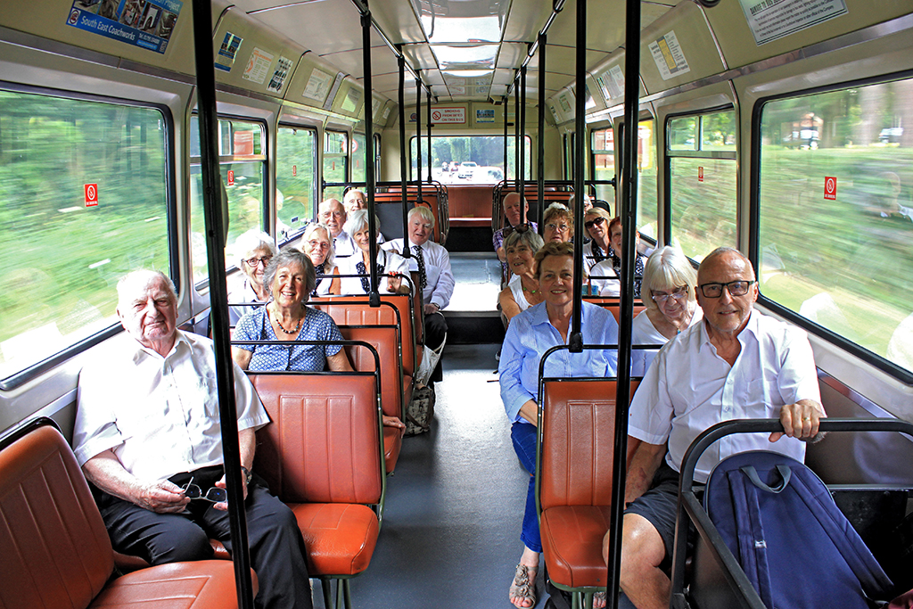 Passengers on the Vintage Bus