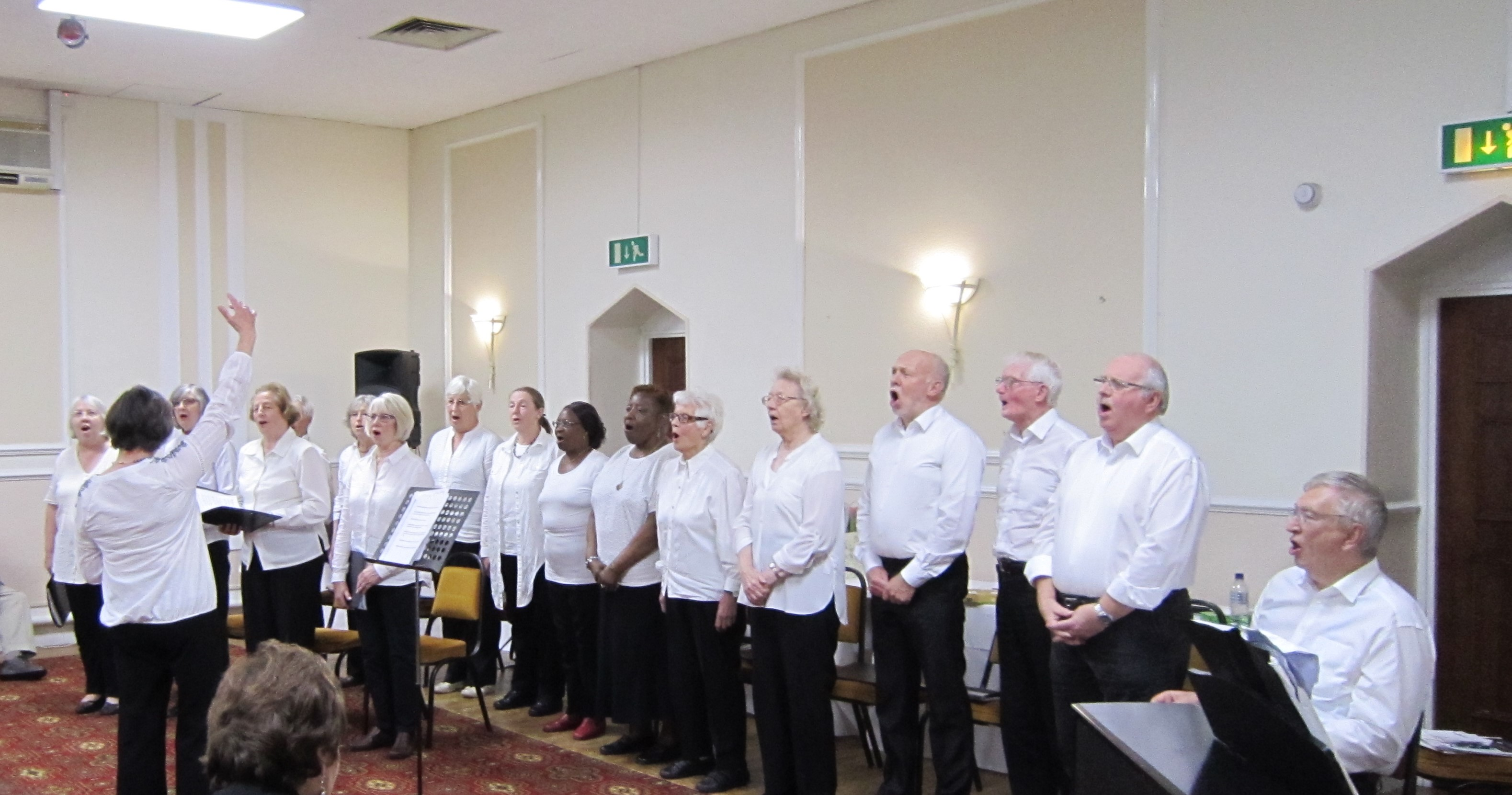 The Choir singing for the members