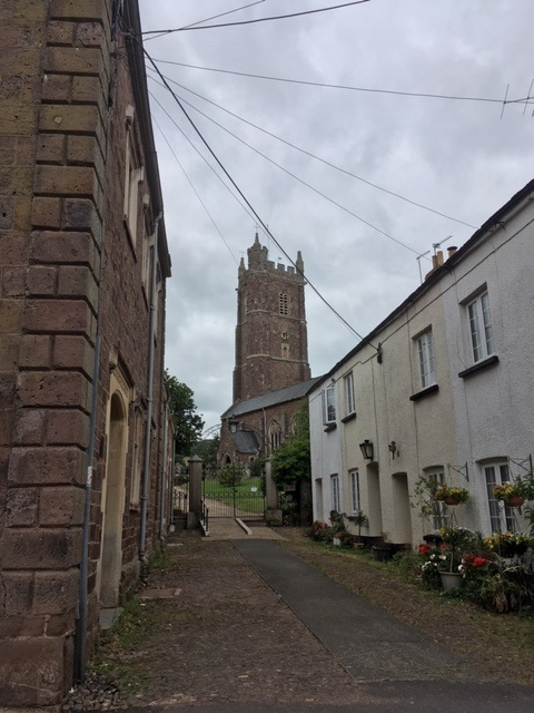 Up the lane to the Church