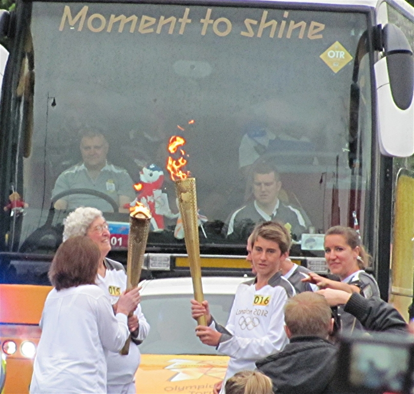 Shirley Waller and  Olympic Torch